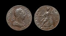 English Milled Coins - George III - 1773 - Halfpenny