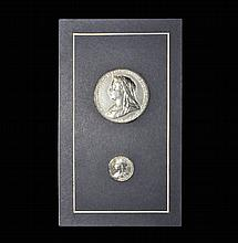 English Commemorative Medals - Victoria - 1897 - Diamond Jubilee Silver Medal Pair