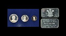 English Commemorative Medals - Prince of Wales - 1969 Investiture - Cased Medal and Cased Ingot Set Group [2]