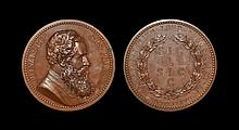 English Commemorative Medals - Numismatic Society of London - 1887 - Sir John Evans - Golden Jubilee Medal