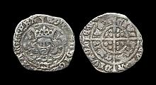 English Medieval Coins - Edward IV - Archbishop Bourchier - Halfgroat