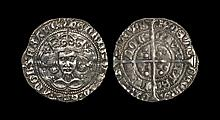 English Medieval Coins - Henry VI - London - Rosette Mascle Groat