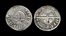 English Medieval Coins - Netherlands - Koevorden - Renaud II - Imitative Long Cross Copken (Halfpenny)