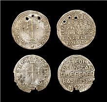 Ancient Byzantine Coins - Leo V and Basil I - Miliaresion Group (2)