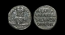 Ancient Byzantine Coins - Leo VI - Inscription Follis