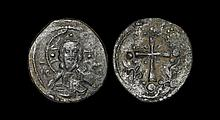 Ancient Byzantine Coins - Anonymous Issues - Latin Cross Class I Follis