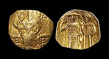 Ancient Byzantine Coins - John III - Gold John and Mary Hyperpyron
