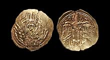 Ancient Byzantine Coins - Andronicus II and Michael IX - Gold Emperors with Christ Hyperpyron
