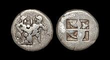 Ancient Greek Coins - Thasos - Satyr with Nymph Drachm