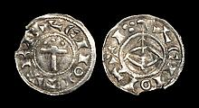 Hiberno-Norse - Kings of York - Regnald I - Thor's Hammer with Bow and Arrow Penny