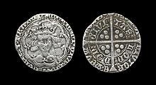 English Medieval Coins - Henry V - London - Class C Groat