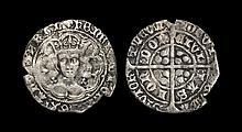 English Medieval Coins - Henry VI - London - Trefoil Groat
