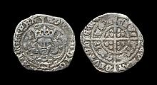 English Medieval Coins - Edward IV - Archbishop Bourchier - Halfgroat