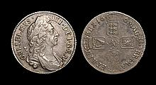 English Milled Coins - William III - 1696 - Shilling