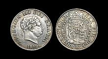 English Milled Coins - George III - 1818 - Halfcrown