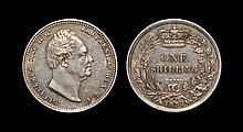 English Milled Coins - William IV - 1836 - Shilling