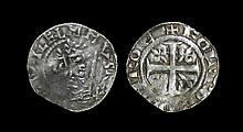 World Coins - Scotland - William the Lion - Roxburgh / Folpold - Early Issue Cross and Lis Penny