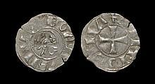 World Coins - Crusader States - Antioch - Bohemund III - Portrait Denier