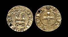 World Coins - Crusader States - Frankish Greece - Achaia - William II - Denier Tournois