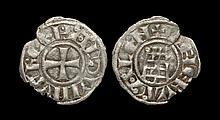 World Coins - Crusader States - Jerusalem - Baldwin III - Tower of David Denier