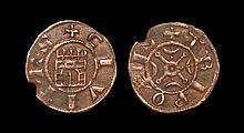World Coins - Crusader States - Tripoli - Raymond III - Castle Pougeoise