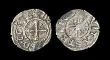 World Coins - Crusader States - Tripoli - Bohemund V - Star Denier