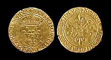 World Coins - France - Francis I - Gold Ecu d'Or au Soleil