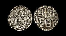 World Coins - India - Kalachuris of Tripuri - Gangeyadeva and Successors - Billon Stater