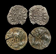 World Coins - Italy - Sicily - Henry VI and Charles of Anjou - Eagle Denier and KA Ducat Group [2]