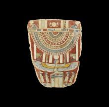 Egyptian Cartonnage Mummy Panel