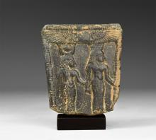 Egyptian Pectoral Plaque with Isis and Mut