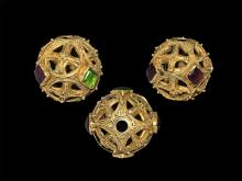 Post Medieval Gold Tudor Jewelled Globe