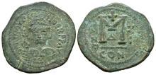 Ancient Byzantine Coins - Maurice Tiberius - Large M Follis