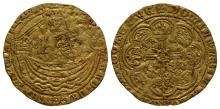 English Medieval Coins - Edward III - London - Treaty Gold Half Noble