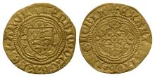 English Medieval Coins - Henry VI - London - Class 1A/IB Mule Annulet Gold Quarter Noble