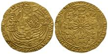 English Medieval Coins - Edward IV - Coventry - Gold Ryal (Rose Noble