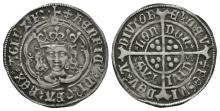 English Tudor Coins - Henry VII - Facing Bust Groat