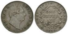 World Coins - India - William IV - 1835 - Rupee