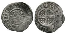 English Medieval Coins - Henry III - Canterbury / Roger - Class 6d Short Cross Penny