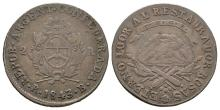 World Coins - Argentina - 1843 RB - 2 Reales