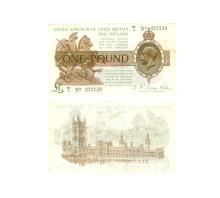 British Banknotes - Treasury - 1919 - Fisher - £1