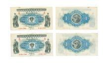British Banknotes - Ireland - Bank of Ireland - 1943 - £1 Group [2]