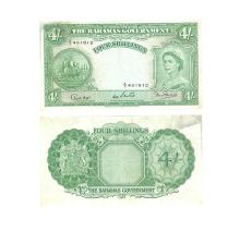 World Banknotes - Bahamas Government - 1953 - 4 Shillings