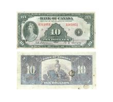 World Banknotes - Bank of Canada - 1935 - $10