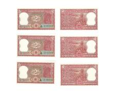 World Banknotes - India - Republic - 1977-1982 - 2 Rupees Sequence and Another Group [3]