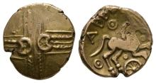 Celtic Iron Age Coins - Catuvellauni - Addedomaros - Crescent Cross Gold Stater