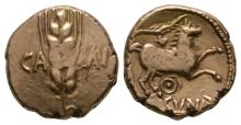 Celtic Iron Age Coins - Trinovantes and Catuvellauni - Cunobelin - Wild Ring Gold Stater