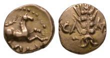 Celtic Iron Age Coins - Trinovantes and Catuvellauni - Cunobelin - Classic Variant Gold Quarter Stater