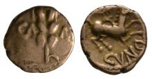 Celtic Iron Age Coins - Trinovantes and Catuvellauni - Cunobelin - Wild Gold Quarter Stater