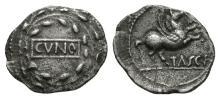 Celtic Iron Age Coins - Trinovantes and Catuvellauni - Cunobelin - Wreath Silver Unit
